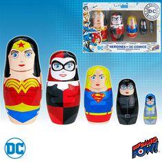 BLOG DOS BRINQUEDOS: Heroines of DC Nesting Dolls Set of 5