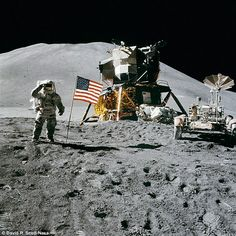 Through the and there were 12 Nasa astronauts who landed and walked on the surface of the moon. Since Apollo 17 in however, there have been no humans to set foot on the lunar surface. A picture showing astronaut James Irwin, from Apollo is shown above Michael Collins, Apollo Moon Missions, Chris Hadfield, Apollo Space Program, Plakat Design, Nasa History, Space Race, Samos, Moon Landing