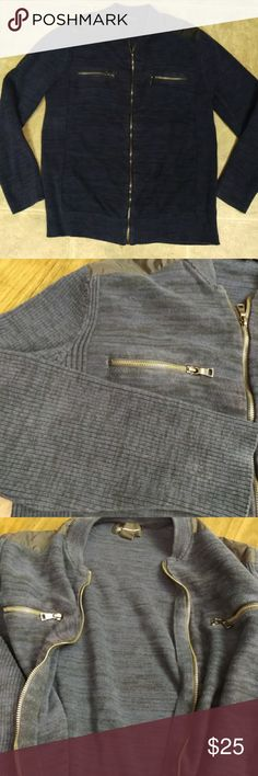 INC International Concepts Men's Cotton Sweater XL Pre-owned in good condition. Size Xlarge. Navy blue color of the full zip top. INC International Concepts Sweaters Crewneck