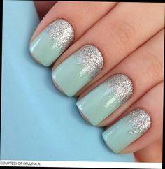 Simple + glitter = fab nails
