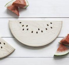 Maple Watermelon 15 x 7 Inch Hardwood Cutting Board by AHeirloom