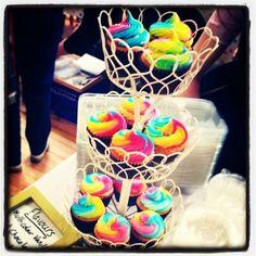 Rainbow cupcakes by Sugartown Cupcakes