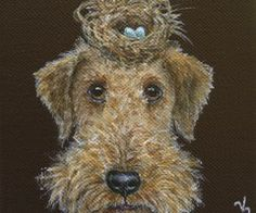 . Animal Paintings, Animal Drawings, Airedale Terrier, Painting Gallery, Dog Portraits, Animal Party, Whimsical Art, Dog Art, Lovers Art