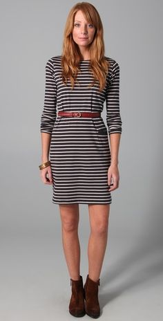 Bretton striped dress by Chinti & Parker.
