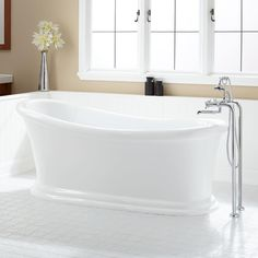 With its gentle slope and simple design, this freestanding Acrylic Slipper Tub fits well in both modern and traditional homes. Description from signaturehardware.com. I searched for this on bing.com/images
