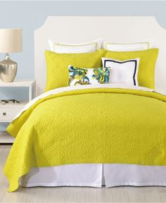 Trina Turk Bedding, Santorini Citron Quilt Collection - Bedding Collections - Bed & Bath - Macy's