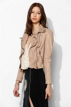 Muubaa Indus Channel-Quilted Moto Jacket #urbanoutfitters