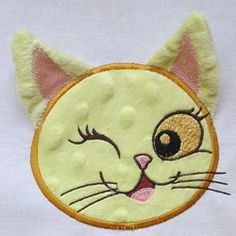 Just Ears Kitty - 4x5 | What's New | Machine Embroidery Designs | SWAKembroidery.com Mar Lena Embroidery
