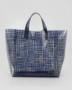 MARC by Marc Jacobs Checkmate PVC Tote Bag - Neiman Marcus