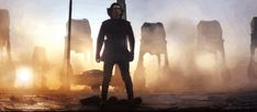 Kylo Ren taking his epic fighting lightsaber power stance!