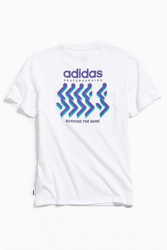 Slide View: 1: adidas Skateboarding Running The Game Tee