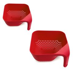 Square Colander Red Set Of 2 now featured on Fab.