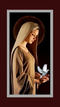 """""""The Holy Spirit comes where he is loved, where he is invited, where he is expected. 📷 'The Blessed Virgin Mary and the Holy Spirit' Jesus Mother, Blessed Mother Mary, Divine Mother, Blessed Virgin Mary, Mama Mary, Mother Pictures, Jesus Pictures, Madonna, Virgin Mary Art"""
