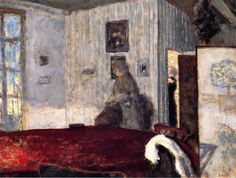 Interior with Screen      Pierre Bonnard - circa 1906 , Intercepted by Gravitation