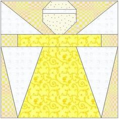 All stitches - angel paper piecing quilt block pattern . Quilt Square Patterns, Pattern Blocks, Quilting Projects, Quilting Designs, Paper Peicing Patterns, Cute Quilts, Scrappy Quilts, History Of Quilting, Stitch And Angel