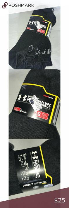 """Under Armour Socks No show 6 pair Sz 9-12 You are viewing Under Armour No show Men's Sz 9-12 6 pairs in this pack; Please view all pics and ask any questions you may have prior to making a bid, offer, or purchase. The item in the pictures is the EXACT item you will receive if placing an order. Please do not hesitate to ask any questions or make offers !! I will accept almost all REASONABLE offers !! Thanks so much for your time and your interest!! Thanks for shipping with us at : """"THE…"""
