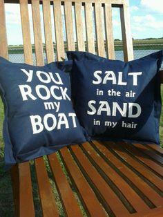 Custom Made Nautical cushions  at Bowbluebell