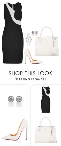 """""""Sem título #2734"""" by mprocedi ❤ liked on Polyvore featuring Roland Mouret, Christian Louboutin and DKNY"""