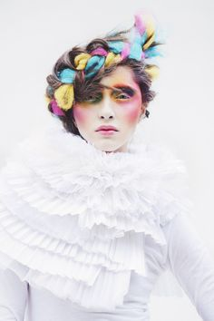 portrait by vanessa B. Hair Inspo, Hair Inspiration, Makeup Art, Hair Makeup, Braided Hairstyles, Cool Hairstyles, Avant Garde Hairstyles, Foto Fashion, Hair Shows