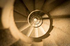 Sagrada Familia Spiral Staircase Barcelona Spain Photography