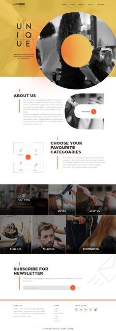 saloon design #ResponsiveWebDesign