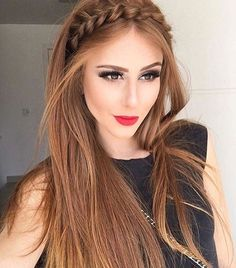 Half up hairstyles 2018 for the prom. - neuesteHaarmodelle - - Half up Frisuren 2018 für den Abschlussball. Hairstyles 2018 Half up hairstyles 2018 for the prom.Gorgeous Braided Rope Headband Long Hairstyles 2017 – 2018 for Fine HairLuce hermosa c Straight Prom Hair, Straight Hairstyles Prom, Braid Front Of Hair, Bridesmaid Hair Straight, Straight Hair With Braid, Hair Styles Straight, Straight Haircuts, Short Haircuts, Pinterest Hair
