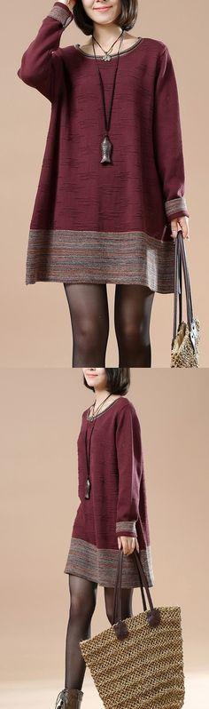 Кирпич красный жаккардовый пуловер свитера вязать платье