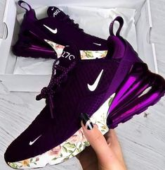 The Amazing Nike Purple Air Max - Workout Clothes - . Cute Nike Shoes, Cute Sneakers, Nike Air Shoes, Sneakers Nike, Hypebeast Sneakers, Purple Sneakers, Nike Shoes Outlet, Kicks Shoes, Women's Shoes