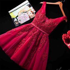 2016 New Sexy Cocktail curto vestidos Birdal do banquete do vinho vermelho Lace Backless partido Formal vestido do baile vestido Robe De soirée em Vestidos de Coquetel de Casamentos e Eventos no AliExpress.com | Alibaba Group
