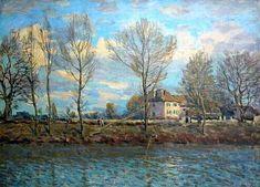 Alfred Sisley, Isola della Grande Jatte, 1873 m tela m d'Orsay Impressionist Landscape, Landscape Paintings, Landscapes, Renoir, Famous Artists, Great Artists, Paris Suburbs, Classical Art, Grande Jatte