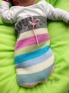 Gestrickter Baby Pucksack | kardiomuffelchen