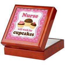 Nurse Gift Cupcakes Keepsake Box     ~TRUE!!!