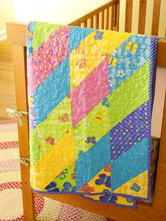 Instructions for making your own baby quilts - adorable nursery accents! Links to many quilts!