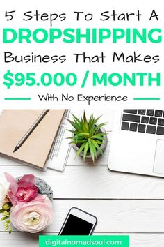Shopify, Start a dropshipping Business, make money online, digital nomad jobs