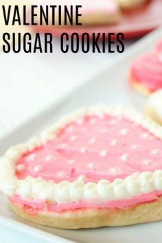 These Valentine's Cookies are so fun to make and they taste delicious! They are made with easy and simple ingredients you already have on hand.