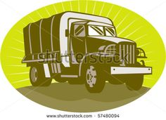 vector illustration of a World war two military personnel carrier truck #truck #retro #illustration