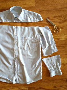 DIY Men's shirt to Peasant Blouse Tutorial More