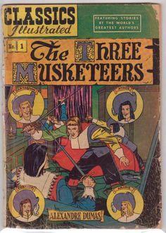 Classics Illustrated #1 - The Three Musketeers (1969) (Alexandre Dumas)