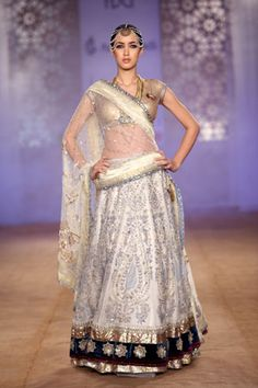 Gold & Silver Sequined Lengha