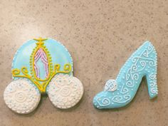Cinderella Cookies Carriage and Glass Slipper by KnowAnOrdinaryMom