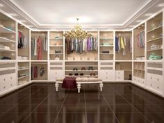 Fine 15 Amazing Walk-in Closets for Your Home Wish List It is a well designed, enviable walk-in closet if there is a design element that is too difficult to obtain. If you don& have a walk-in closet, y. Custom Walk In Closets, Walk In Closet Design, Closet Designs, Dream Closets, Walking Closet, Walk In Robe, Walk In Wardrobe, Master Closet, Closet Bedroom