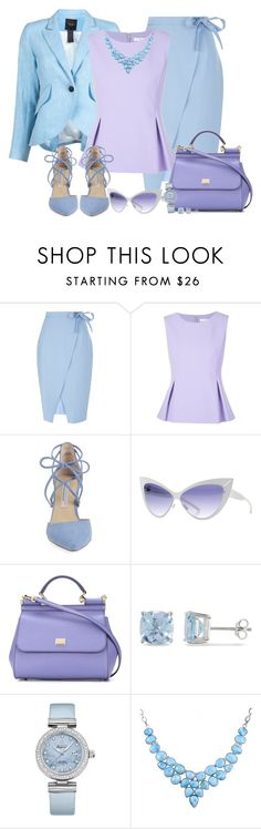 """Bottom Series 2/6: Skirt (OUTFIT ONLY!)"" by asia-12 ❤ liked on Polyvore featuring New Look, Diane Von Furstenberg, Kristin Cavallari, Mykita, Dolce&Gabbana, Ice and OMEGA"
