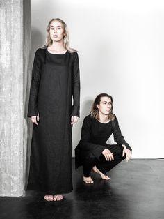 UNISEX fashion, LAURIJARVINENSTUDIO Eco Friendly Fashion, Unisex Fashion, Black Fabric, That Look, Goth, Unique, Collection, Dresses, Style