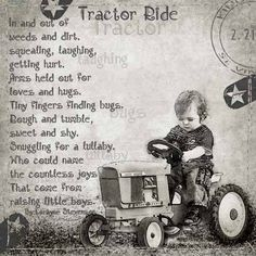 Little Boys and their tractors.I have wonderful memories of my boys riding around on their johndeer tractor Leadership Quotes, Sweet Boys, Little Boy Quotes, Baby Boy Quotes, Baby Boy Poems, Baby Boys, Love Hug, Visual Statements, Way Of Life