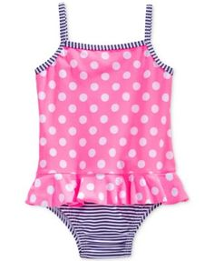 Carter's Baby Girls' One-Piece Mixed-Print Swimsuit