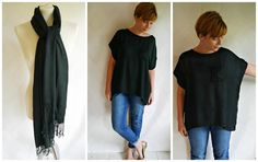 Miss P: DIY Pashmina Refashion - Number 1! Top from a pashmina - do they make them my width?!?!?!