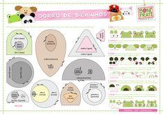 Blog BoniFrati: Gorros de Bichinhos (com molde)