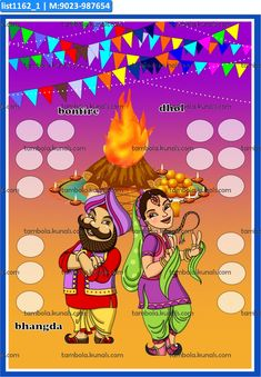 For Party Games, call us at 8930990888 or visit tambola.kunals.com Punjabi Couple Tambola Housie Tickets.   If you have get together party on Baisakhi theme in month of April, you can plan it to be a Punjabi theme. Or this lotto game go easily with Sher-E-Punjab theme. Kitty Party Games, Cat Party, Valentine Ideas, Valentines, Tambola Game, Lotto Games, Feelings Chart, Punjabi Couple, Makar Sankranti