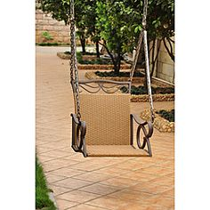 International Caravan Valencia Resin Wicker/ Steel Frame Hanging Single Chair…