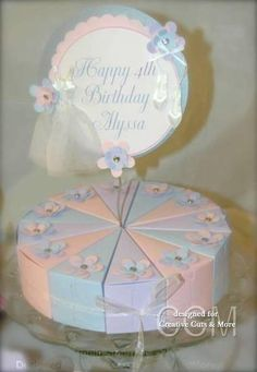 Tu Tu Cute Ballerina Theme Party Centerpiece created by Pam Smerker using our Cake Slice Boxes.